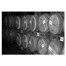 Black & White Wine Barrel Photo