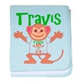 Little Monkey Travis baby blanket