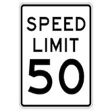 Speed Limit 50 MPH