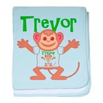 Little Monkey Trevor baby blanket