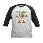 Little Monkey Trevor Kids Baseball Jersey
