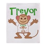 Little Monkey Trevor Throw Blanket