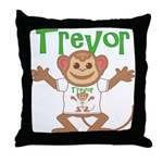 Little Monkey Trevor Throw Pillow