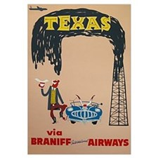 Framed Braniff Airways Print