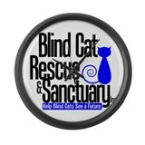 Blind Cat Rescue & Sanctuary Large Wall Clock