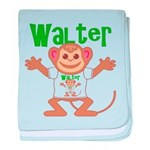 Little Monkey Walter baby blanket