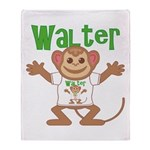 Little Monkey Walter Throw Blanket
