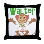 Little Monkey Walter Throw Pillow