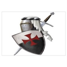 Templar shield with white top
