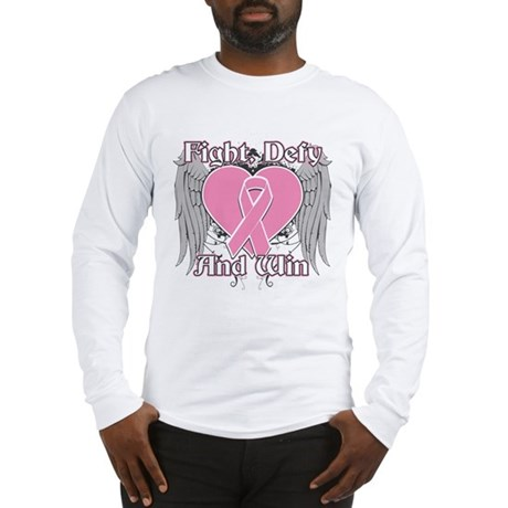 Fight Defy Win Breast Cancer Long Sleeve T-Shirt