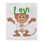 Little Monkey Levi Throw Blanket