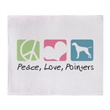 Peace, Love, Pointers Throw Blanket