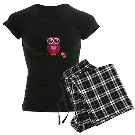 Cute owl Women's Dark Pajamas