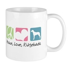 Peace, Love, Ridgebacks Mug