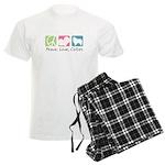 Peace, Love, Collies Men's Light Pajamas