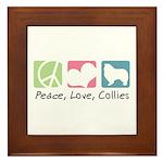 Peace, Love, Collies Framed Tile