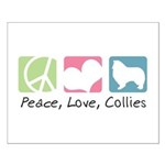 Peace, Love, Collies Small Poster