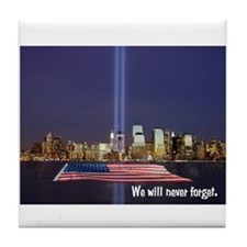9-11 We Will Never Forget Tile Coaster