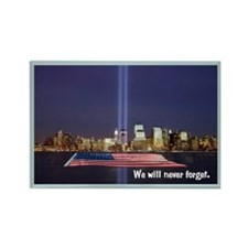 9-11 We Will Never Forget Rectangle Magnet (100 pa