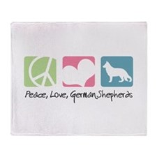 Peace, Love, German Shepherds Throw Blanket