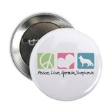 "Peace, Love, German Shepherds 2.25"" Button"