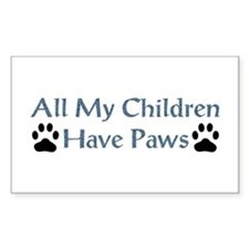 All My Children Have Paws 4 Decal