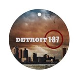 Detroit 187 Ornament (Round)