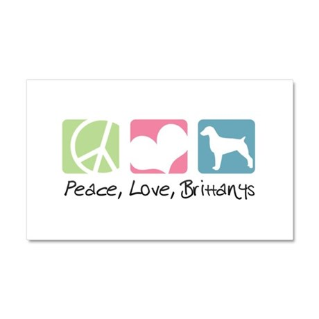 Peace, Love, Brittanys Car Magnet 20 x 12