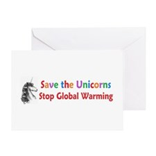 Save the Unicorns! Greeting Card
