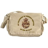 Navy Gold Grandson Messenger Bag
