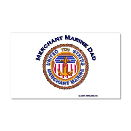 Merchant Marine Dad Car Magnet 20 x 12