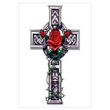 Cross Celtic Rose