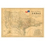 1849 antique Map of Texas,