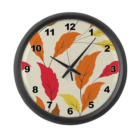 Foliage Large Wall Clock