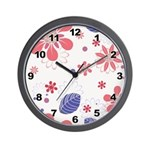 Pretty Floral Wall Clock