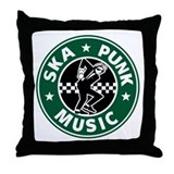 Ska Punk Throw Pillow
