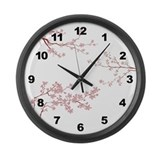 Tree Blossoms Large Wall Clock