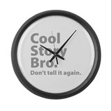 Cool Story Bro Large Wall Clock
