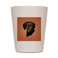 Dachshund pretty face! Shot Glass