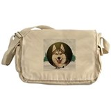 Siberian Husky & dog team Messenger Bag
