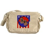 Bull Mastiff Mom & Puppy Messenger Bag
