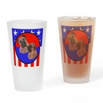 Bull Mastiff Mom & Puppy Drinking Glass