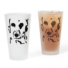 Dalmatian Design Drinking Glass