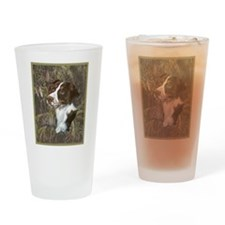Brittany Spaniel Drinking Glass