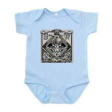 USN SWCC Silver Skull Infant Bodysuit