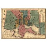 Map of Baltimore, MD- 1882. (Size: 14 x 6 in)