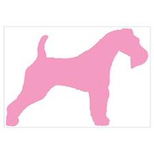 Pink Wire Fox Terrier