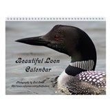 Beautiful Loon Wall Calendar