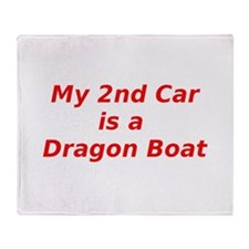 Dragon boat paddling Throw Blanket
