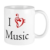 I Heart Music Small Mug